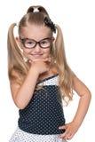 Szczęśliwa ładna mała dziewczynka obrazy stock