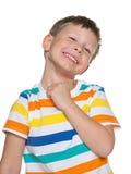 Szczęśliwa śliczna chłopiec obrazy stock