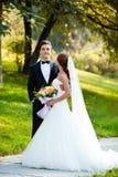Szczęśliwa ślub para obraz royalty free