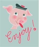 Szczęśliwa świnia Zdjęcia Royalty Free