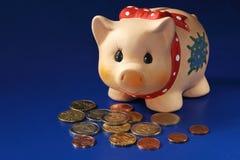 szczęśliwa świnko banku Zdjęcia Stock