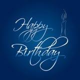 szczęśliwa abstrakcjonistyczna urodzinowa karta ilustracji