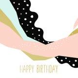 szczęśliwa abstrakcjonistyczna urodzinowa karta Obrazy Royalty Free