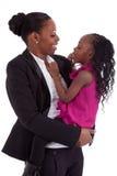 szczęśliwa afrykańska córka jej matka Obrazy Royalty Free