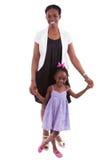 szczęśliwa afrykańska córka jej matka Fotografia Stock