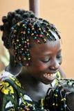szczęśliwa afrykańska dziewczyna Obrazy Royalty Free