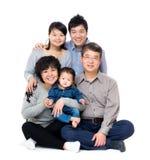 Szczęśliwa azjata trzy pokolenia rodzina zdjęcia royalty free
