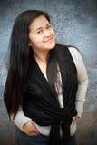 Szczęśliwa Azjatycka Dama Obraz Royalty Free