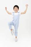 Szczęśliwa azjatykcia śliczna chłopiec z uśmiech twarzą Obraz Royalty Free