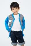 Szczęśliwa azjatykcia śliczna chłopiec z uśmiech twarzą Zdjęcie Stock