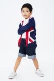 Szczęśliwa azjatykcia śliczna chłopiec z uśmiech twarzą Fotografia Stock