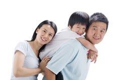 Szczęśliwa azjatykcia rodzina Zdjęcie Royalty Free