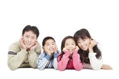 Szczęśliwa azjatykcia rodzina Fotografia Stock