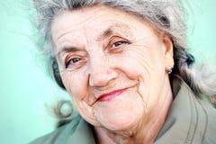 Szczęśliwa babci twarz Obraz Royalty Free
