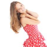 Szczęśliwa beztroska nastoletnia dziewczyna obraz royalty free