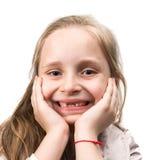 Szczęśliwa bezzębna dziewczyna Obraz Royalty Free