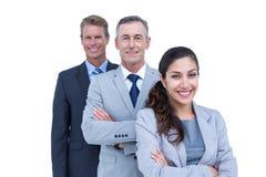 Szczęśliwa biznes drużyny pozycja w linii Obraz Royalty Free
