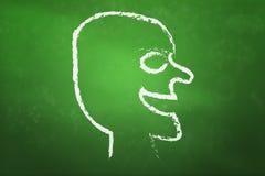 szczęśliwa blackboard twarz Zdjęcia Stock