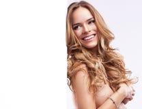 szczęśliwa blondynki kobieta Zdjęcia Stock