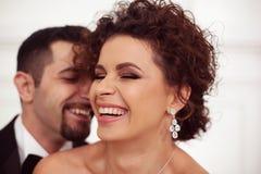 Szczęśliwa Bridal para Fotografia Royalty Free