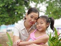 szczęśliwa córki matka Zdjęcia Royalty Free
