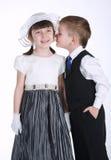 Szczęśliwa całowanie chłopiec, dziewczyna i obrazy stock