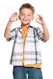Szczęśliwa chłopiec zdjęcia royalty free