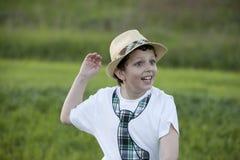 Szczęśliwa chłopiec obrazy royalty free