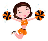 szczęśliwa chirliderka dziewczyna ilustracji