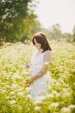 szczęśliwa ciąży Zdjęcia Royalty Free