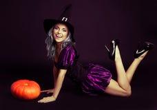 Szczęśliwa czarownica Obraz Royalty Free