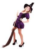 Szczęśliwa czarownica Obrazy Royalty Free