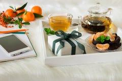 Szczęśliwa czas przerwa, prezent i Fotografia Stock