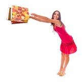 szczęśliwa dama zakupy Obraz Royalty Free
