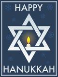 szczęśliwa David gwiazda Hanukkah royalty ilustracja