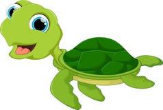 Szczęśliwa dennego żółwia kreskówka Zdjęcia Royalty Free