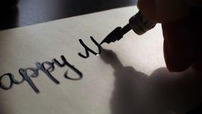 Szczęśliwa dnia pamięci literowania i kaligrafii pocztówka Niezwykle zakończenie zbiory wideo