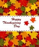 Szczęśliwa dziękczynienie dnia karta Obraz Stock