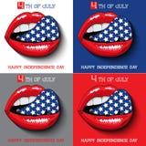 Szczęśliwa dzień niepodległości karta Stany Zjednoczone royalty ilustracja