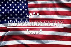 Szczęśliwa dzień niepodległości kartka z pozdrowieniami, Krajowy amerykański wakacje Dnia Niepodległości tło pamięta i honoruje zdjęcie royalty free