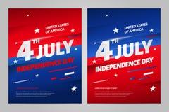 szczęśliwa dzień niezależność 4 Lipiec th USA royalty ilustracja