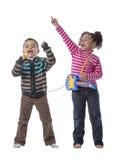 Szczęśliwi dzieciaki Muzyczni Obrazy Royalty Free