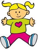 szczęśliwa dziecko dziewczyna ilustracja wektor