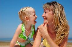 szczęśliwa dziecko kobieta Obraz Stock