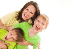 szczęśliwa dziecko mama zdjęcie royalty free