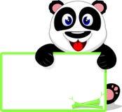 Szczęśliwa dziecko panda Śmia się Z puste miejsce znakiem Obrazy Stock