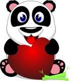 Szczęśliwa dziecko panda Z sercem Zdjęcia Stock