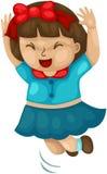 Szczęśliwa dziewczyna ilustracja wektor
