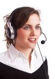 szczęśliwa dziewczyna operatora Obrazy Royalty Free