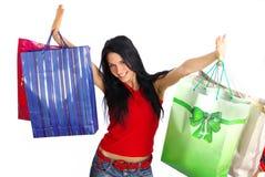 szczęśliwa dziewczyna zakupy Obrazy Stock
